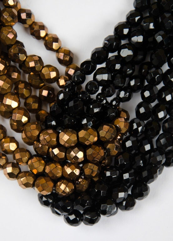 Coppola e Toppo half crystal bead intertwined necklace 1960s 1