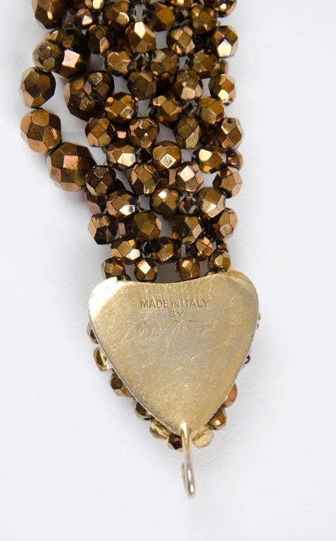 Coppola e Toppo half crystal bead intertwined necklace 1960s 3
