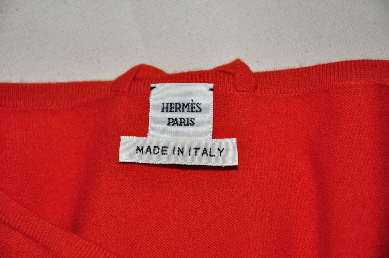 Hermes 2014 F/W Wool and Silk Scarf Print Knitted Dress New FR38 For Sale 1