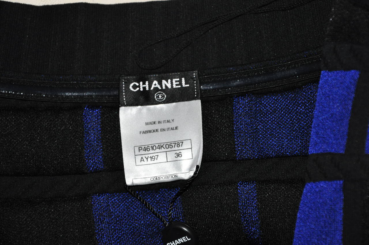 Chanel Bi-Color Textured Cotton Strapless Knit Dress FR36 5