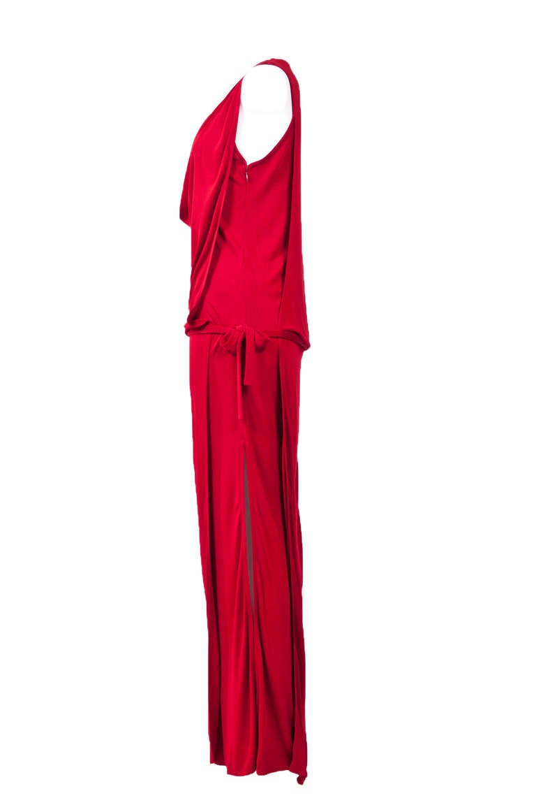 Gianni Versace 90'S Draped Jersey Evening Dress 2