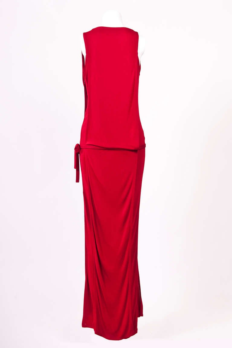 Gianni Versace 90'S Draped Jersey Evening Dress 3