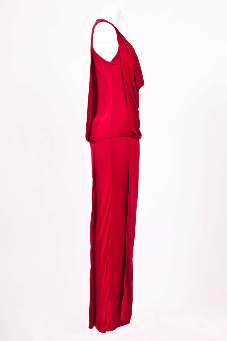 Gianni Versace 90'S Draped Jersey Evening Dress 4