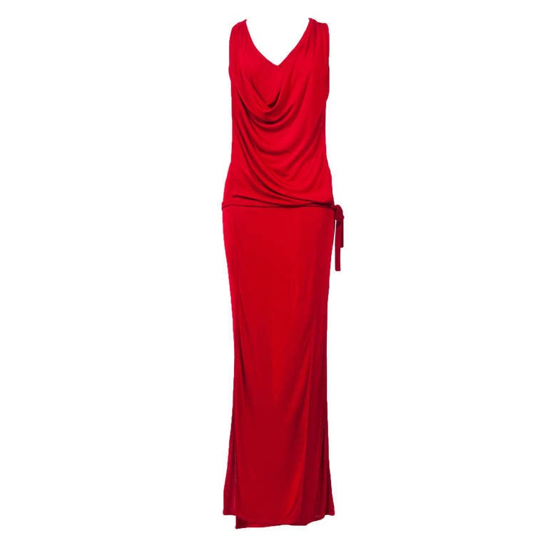 Gianni Versace 90'S Draped Jersey Evening Dress 1