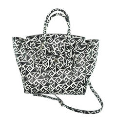Ralph Lauren 2014 Runway Black & White Soft Ricky Bag
