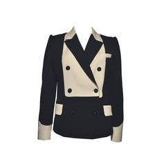 Yve Saint Laurent Black & White Jacket