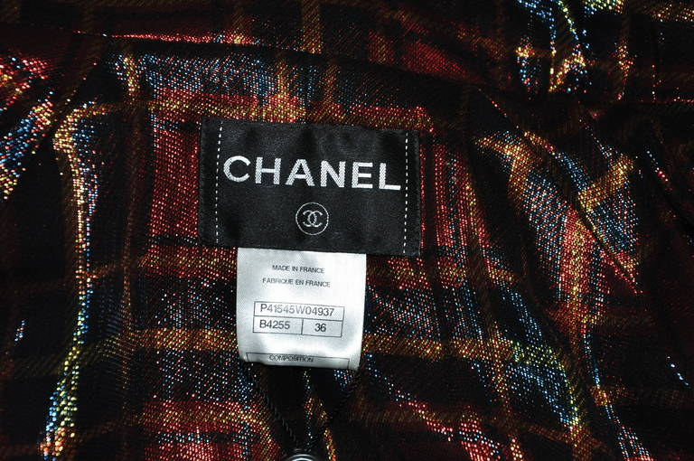 Chanel Paris-Bombay Multi-color sequined Tweed Jacket FR36 For Sale 1