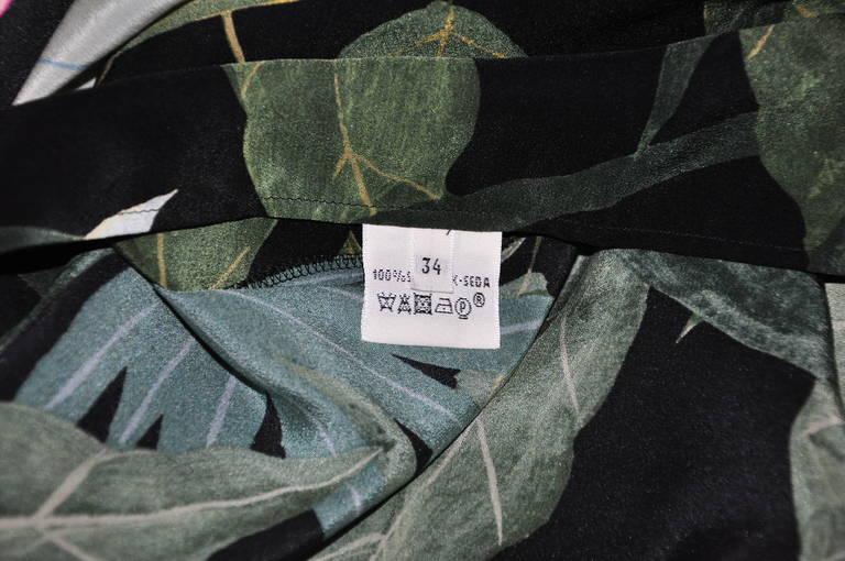 Hermes Botanical Print Sleeveless Over-sized Silk Dress 6