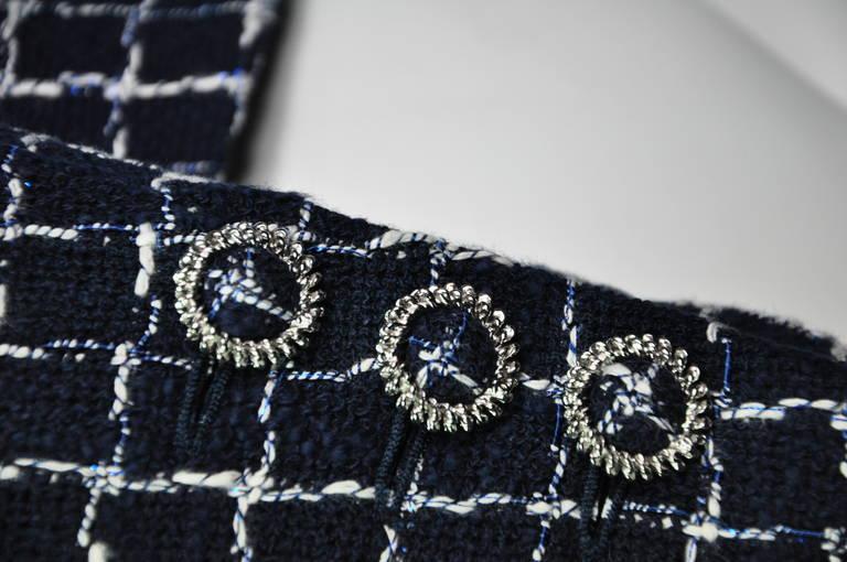 Chanel 2014 S/S Navy Cotton Tweed Jacket FR38 5