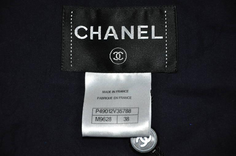 Chanel 2014 S/S Navy Cotton Tweed Jacket FR38 6