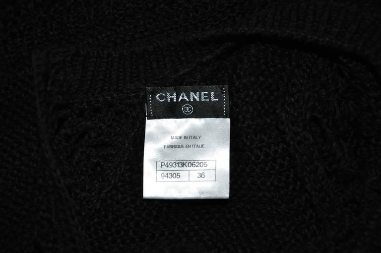Chanel 2014 Resort Black Open-knit Cotton Dress FR36 New 5