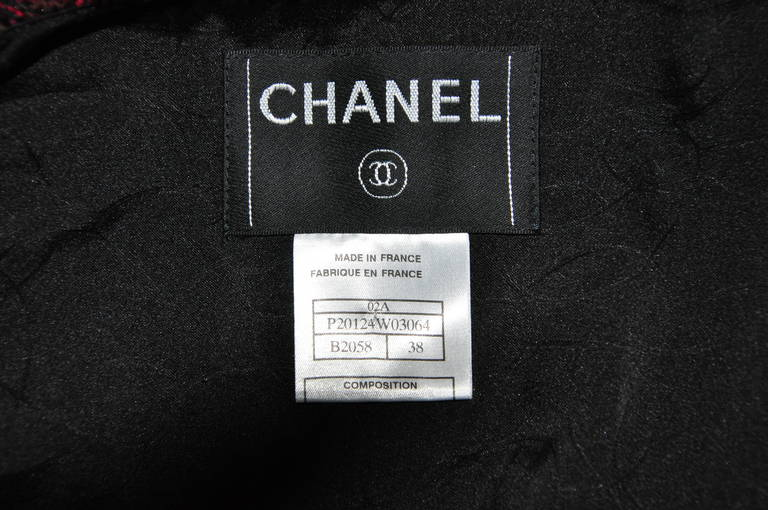 Chanel 02A Two Tone Sequined Tweed Jacket 5