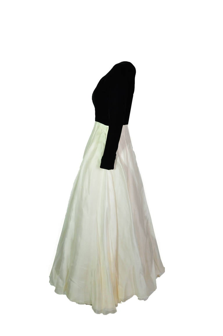 Christian Dior Two Tone Evening Gown from 90'S 2