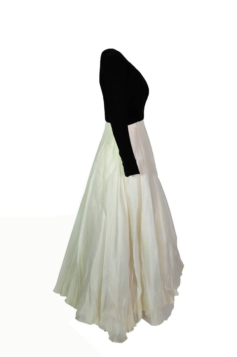 Christian Dior Two Tone Evening Gown from 90'S 4