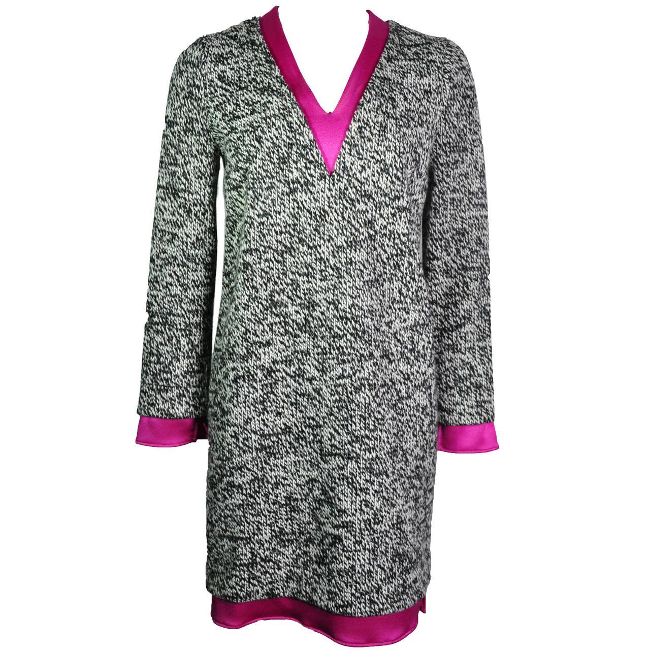 Balenciaga Multi Color Wool Blend Knit Dress