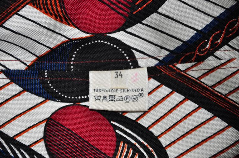 Women's Hermes 2015 Spring-summer Runway African Print Over-sized Silk Dress FR34 For Sale