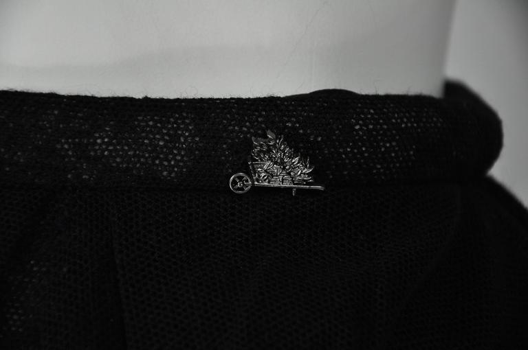 Women's Chanel 2010 Black Tulle and Lace Asymmetric skirt FR34 For Sale