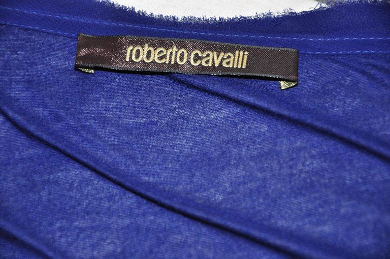 Roberto Sapphire Blue Embellished Top For Sale 1