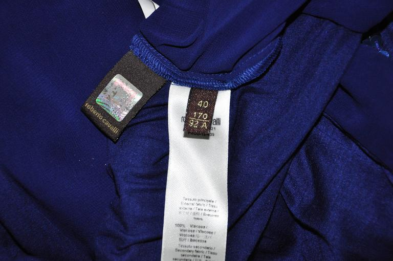 Roberto Sapphire Blue Embellished Top For Sale 2