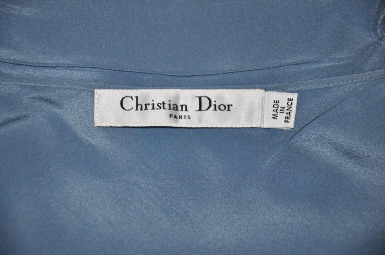 Christian Dior by John Galliano Silk Chiffon Ciel Bleu Maxi Dress  5