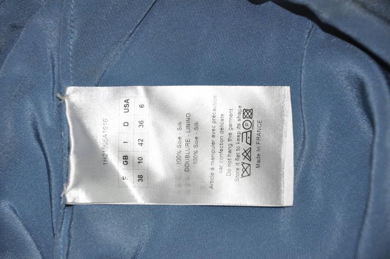 Christian Dior by John Galliano Silk Chiffon Ciel Bleu Maxi Dress  6