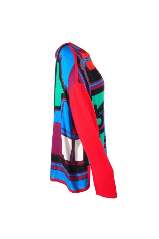 Hermes 2015 Multi-colored Print Silk Knit Top & Skirt  FR34 New 5