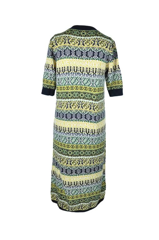 Gray Chanel 2016 Pre Fall Multi-color Cashmere Knit Dress FR38 New For Sale