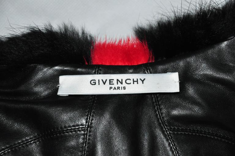 Givenchy by Riccardo Tisci Asymmetric Multi-color dyed Mink Vest 5