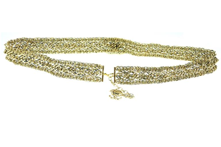 Chanel Multi-strand Gold Chain Belt with CC Logo from 2008 collection 2