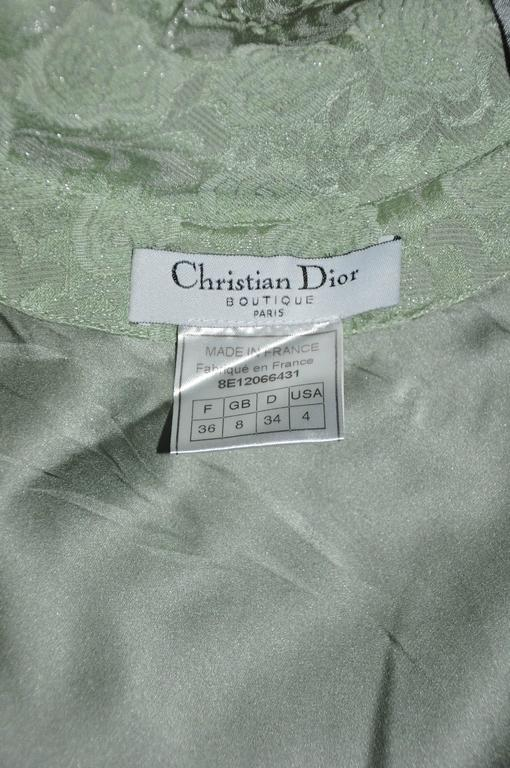 Christian Dior by John Galliano 90'S Teal Fringe Bias Cut Evening Gown 5