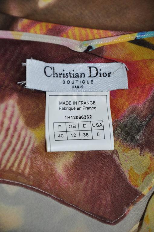 Christian Dior Multi-color Floral Printed Bias-cut Silk Maxi Dress 5