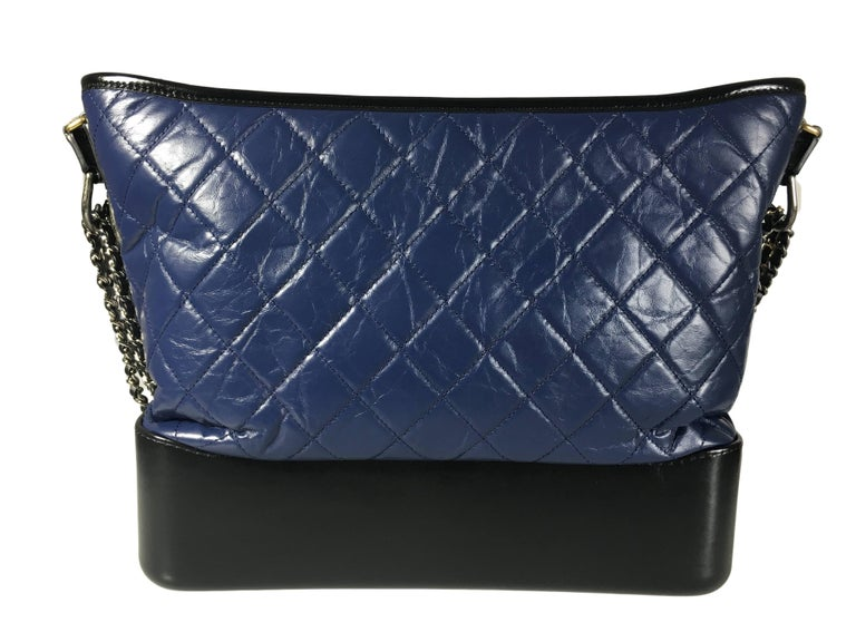 Chanel Gabrielle bag is the latest and most iconic from Chanel 2017 Bag collection. There are multiple ways to carry it as to throw it on the shoulder or across the body etc.  It features zip closure on top, aged calfskin, smooth calfskin,
