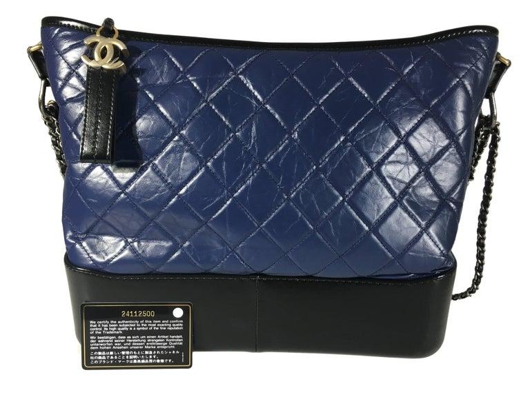 Chanel Black/Navy Gabrielle Large Hobo Bag New For Sale 3