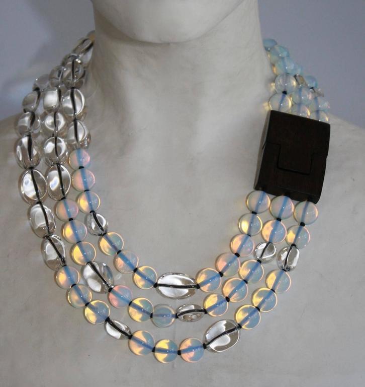 Patricia Von Musulin Opaline and Rock Crystal Necklace 4