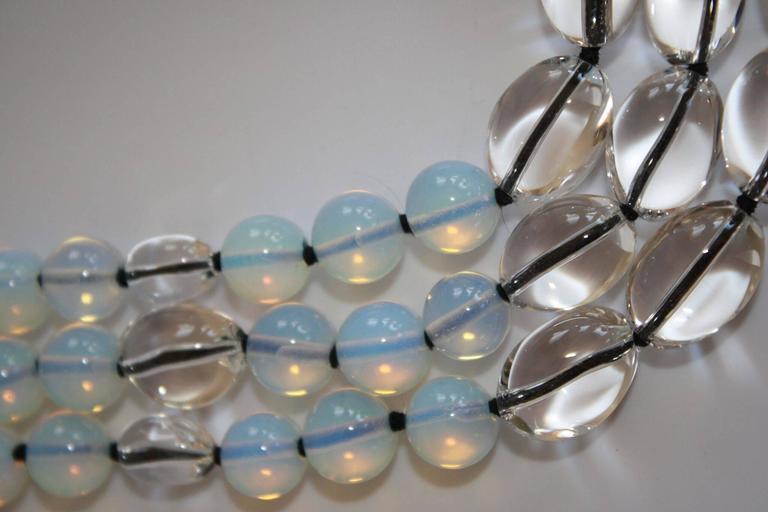 Patricia Von Musulin Opaline and Rock Crystal Necklace 5