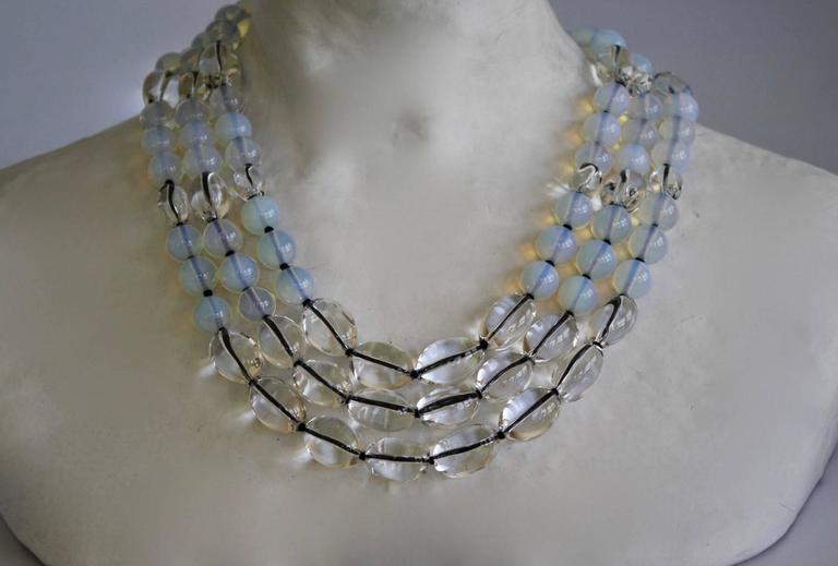 Patricia Von Musulin Opaline and Rock Crystal Necklace 3