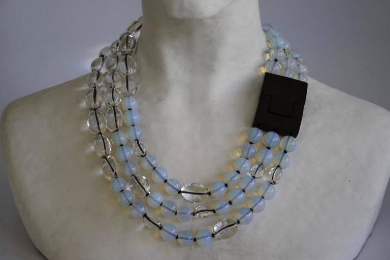 Patricia Von Musulin Opaline and Rock Crystal Necklace 2