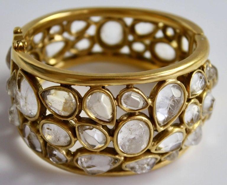 """Goossens Paris Rock Crystal """"Cachmere"""" Bracelet 2"""