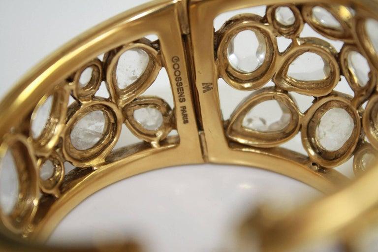 """Goossens Paris Rock Crystal """"Cachmere"""" Bracelet 4"""