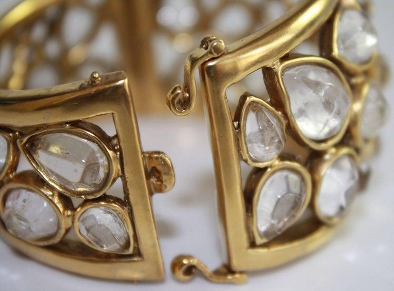 """Goossens Paris Rock Crystal """"Cachmere"""" Bracelet 5"""