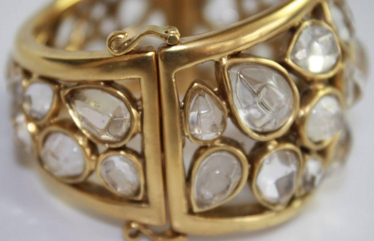 """Goossens Paris Rock Crystal """"Cachmere"""" Bracelet 6"""