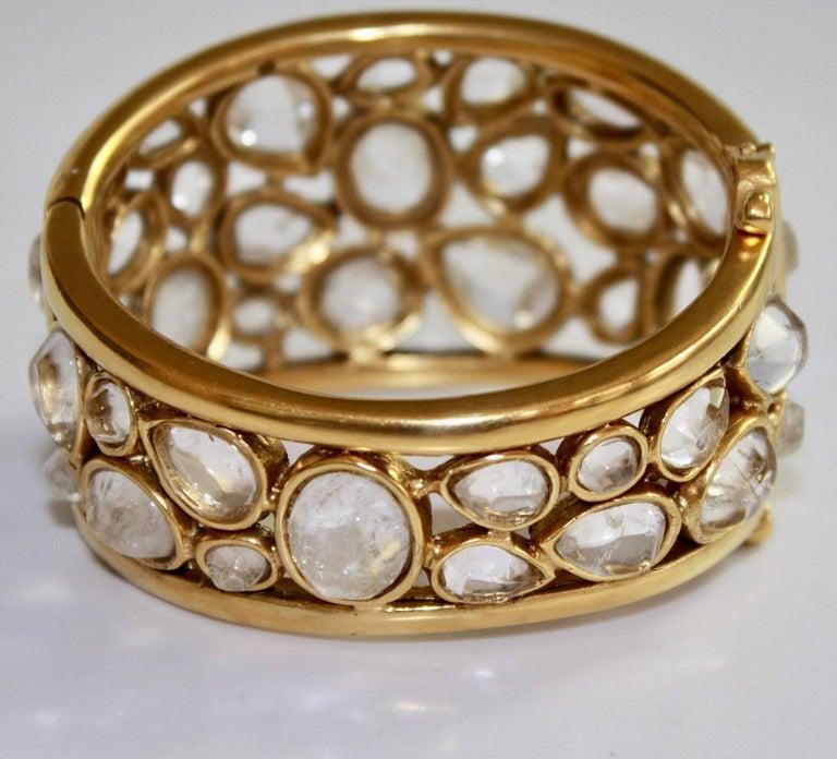 """Goossens Paris Rock Crystal """"Cachmere"""" Bracelet 7"""