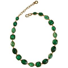 Exclusively for Isabelle K - Goossens Paris Emerald Rock Crystal Necklace