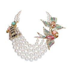 "Philippe Ferrandis One-of-a-Kind ""Tropical Garden"" Necklace"