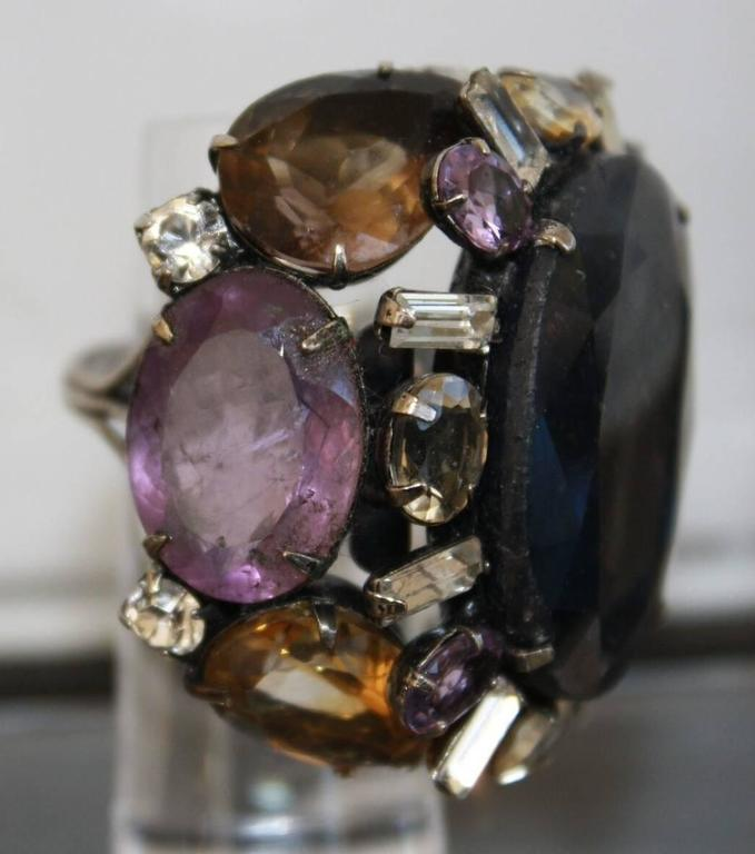 Iradj Moini Amethyst, Sapphire and Quartz Adjustable Ring 2