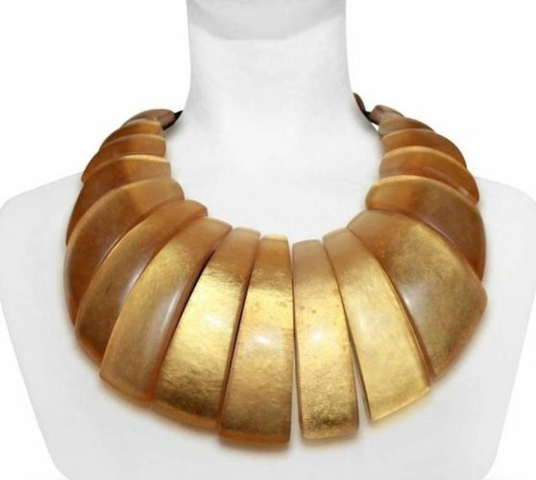 Monies Gold Leaf Statement Necklace 2