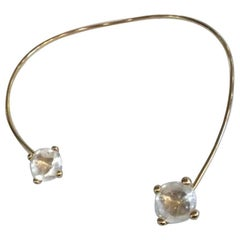 Goosssens Paris Yellow Gold and Rock Crystal Slide Necklace