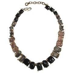 Goossens Paris Hand Tinted Single Row Rock Crystal Necklace