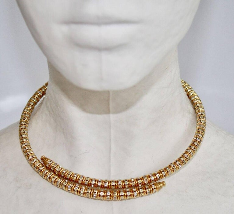 Memory wire necklace that stretches to fit any neck size. Lays perfectly and is chic and subtle! By Francoise Montague.   5