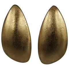 Monies Jewelry Gold Foil Clip Earrings